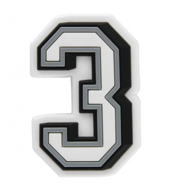 Jibbitz B&W Number 3