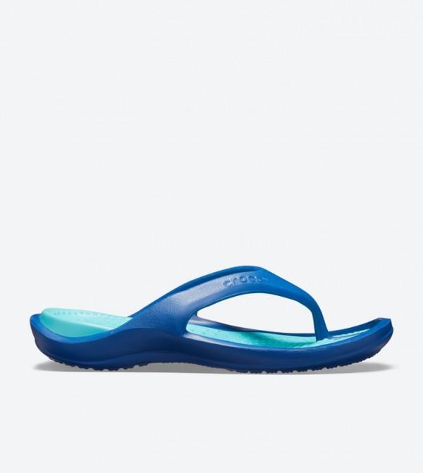 Athens Round Toe Flip Flops - Blue 10024-4IO