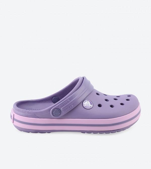 Crocband Purple Clogs