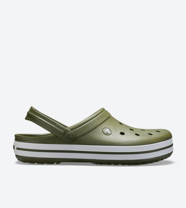 Crocband Back Ankle Strap Round Toe Clogs - Green 11016-37P