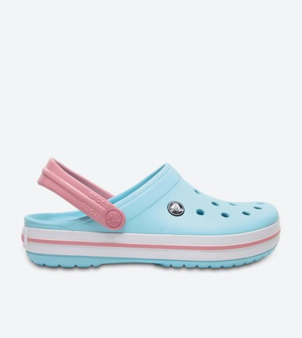 Crocband Back Ankle Strap Round Toe Clogs - Blue 11016-4S3