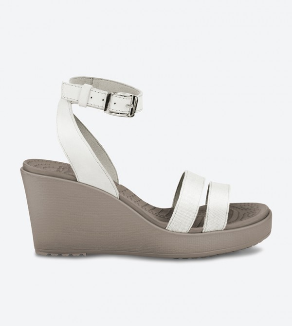 Leigh Wedge Sandals - Off White 11382-14G