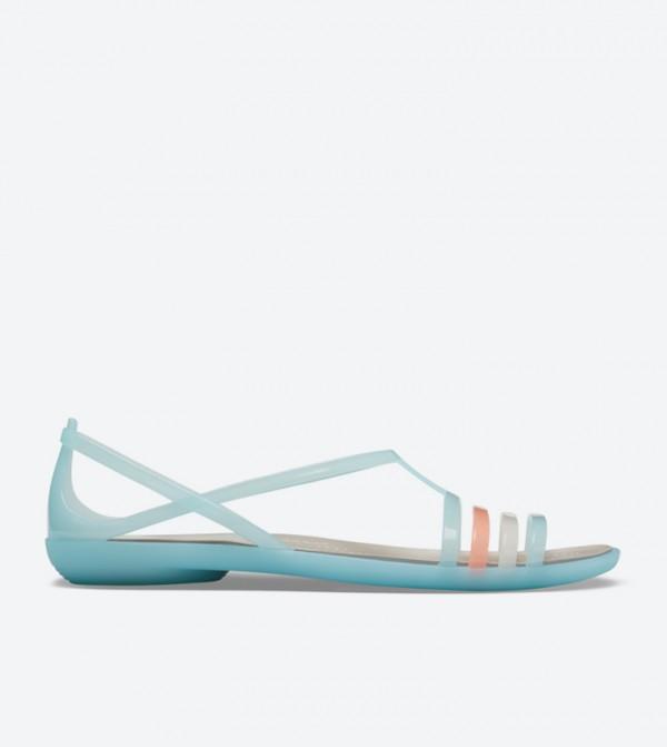 Isabella Multi Straps Round Toe Sandals - Blue 202465-4CW
