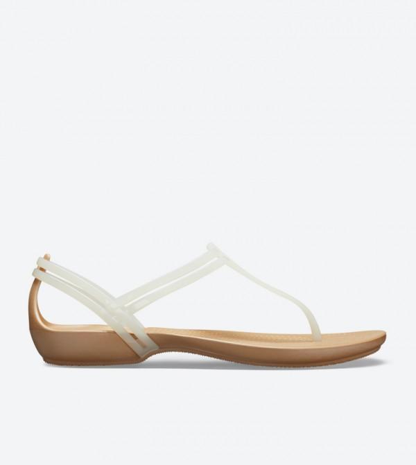 Isabella T-Strap Round Toe Sandals - White 202467-13S