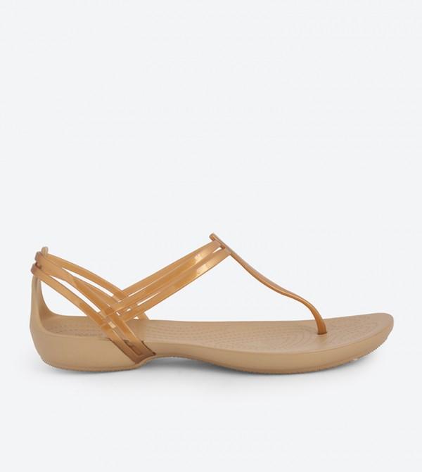 Isabella T-Strap Sandals - Metallic