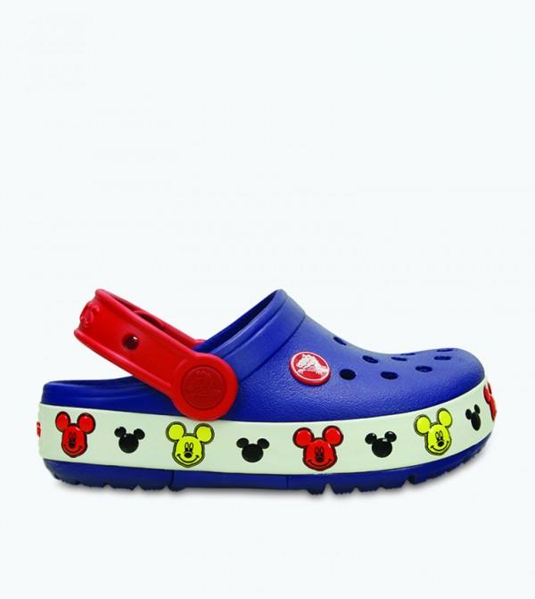Crocband Lights Mickey Mouse Clog - Blue