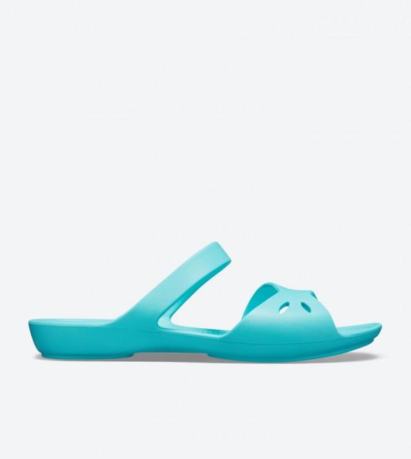 Kelli Open Back Round Toe Sandals - Blue 203991-40M