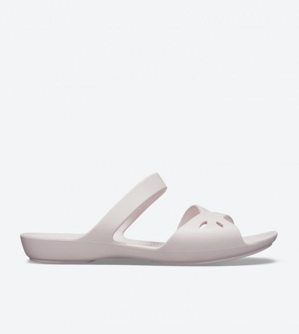 Kelli Open Back Round Toe Sandals - Pink 203991-6PI