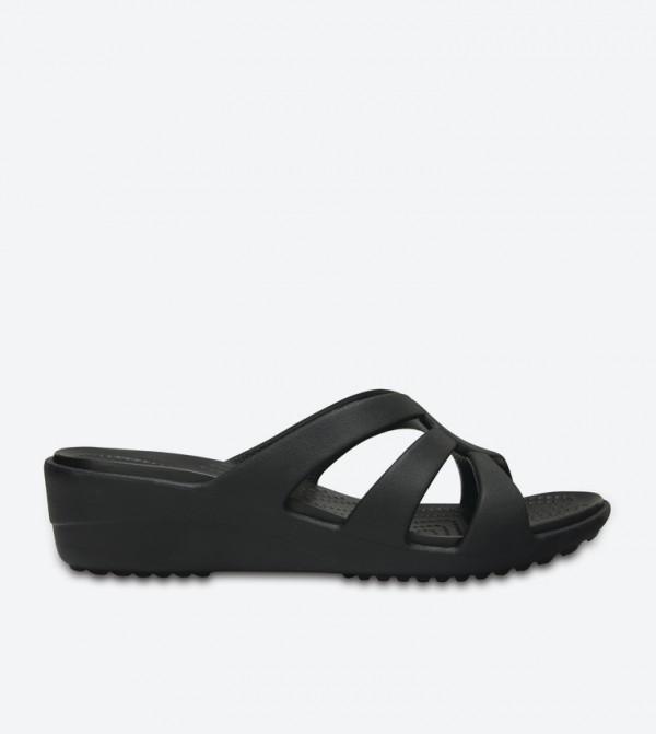 Sanrah Strappy Wedge Sandals - Black 204010-001