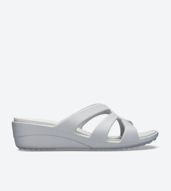 Sanrah Strappy Wedge Sandals - Silver 204010-0L2