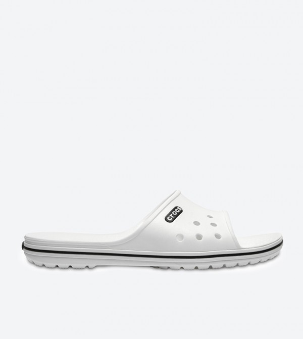 Crocband II Slides - White