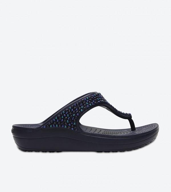 Sloane Embellished Flip Flops - Navy 204181-4AD