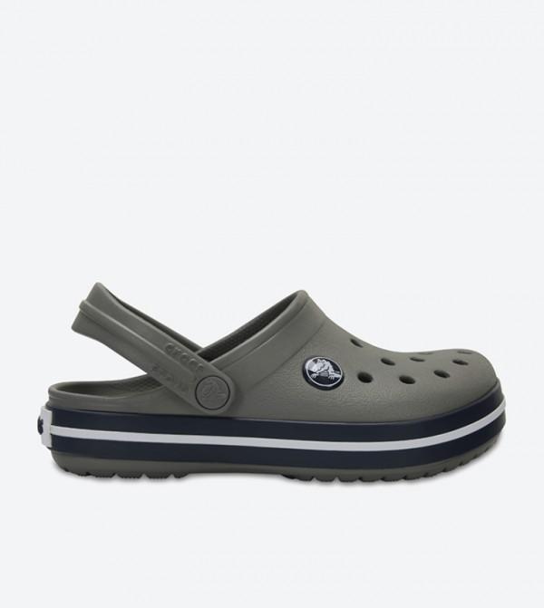 Crocband Round Toe Clog - Grey 204537-05H