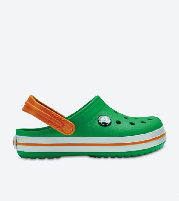 Crocband Cutout Detail Round Toe Clogs - Green 204537-3R4