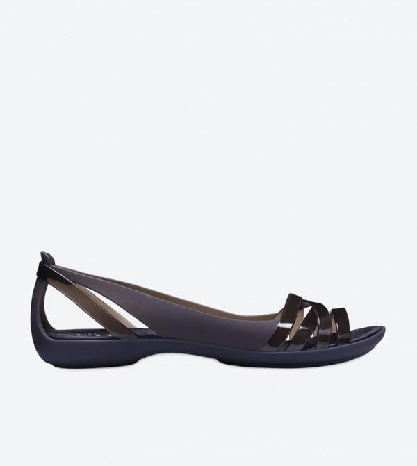 Isabella Huarache Sandals - Black