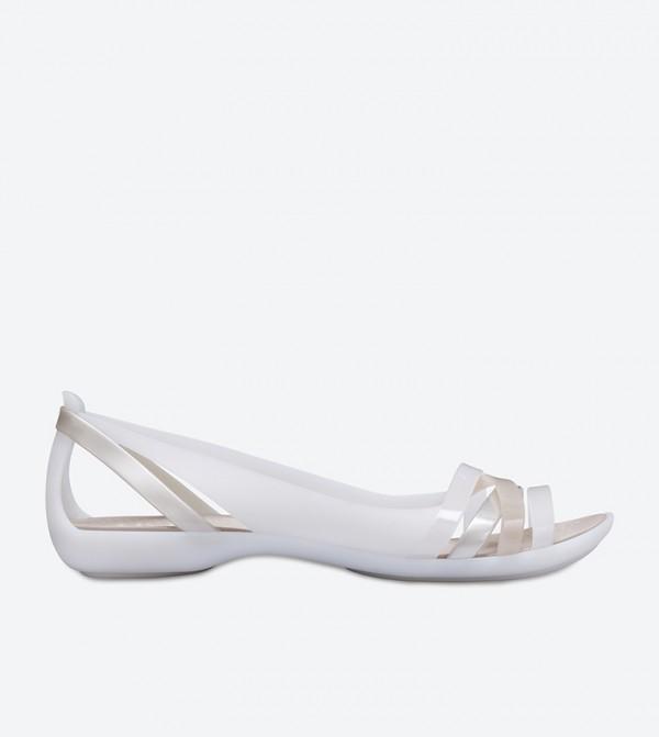 Isabella Huarache Sandals - White