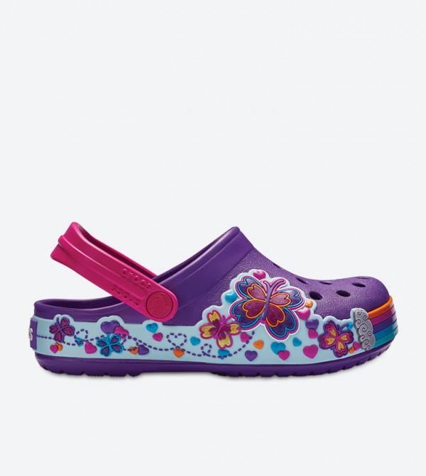 Crocband Fun Lab Graphic Clogs - Purple 204983-57H