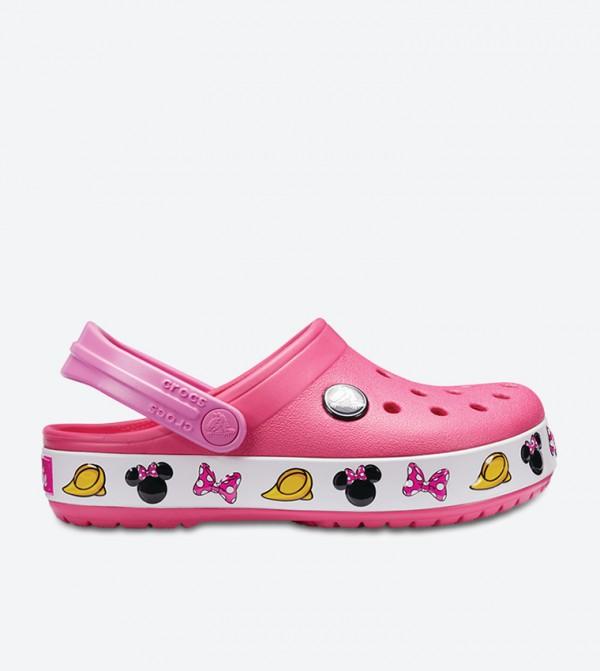 Crocband Minnie Clogs - Pink 204993-6NP