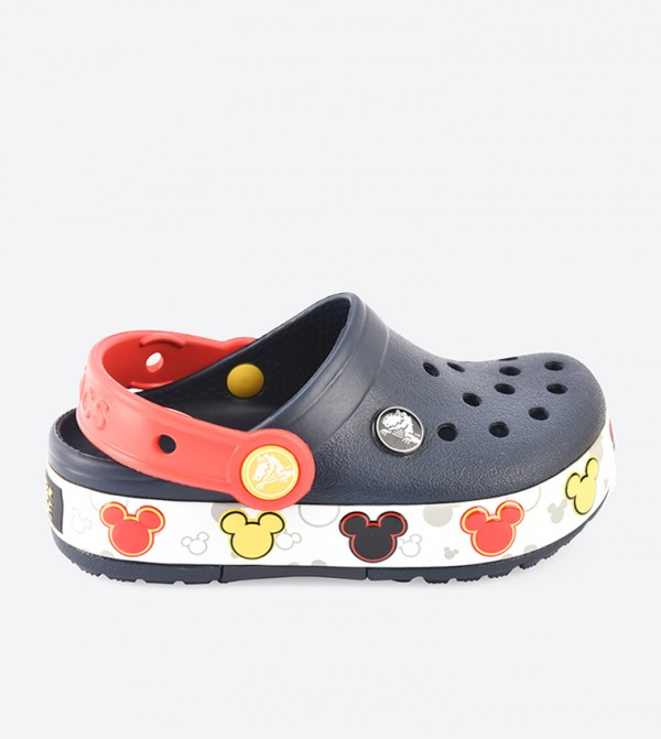 Crocband Mickey Funlab Lights Clogs - Navy 204994-410