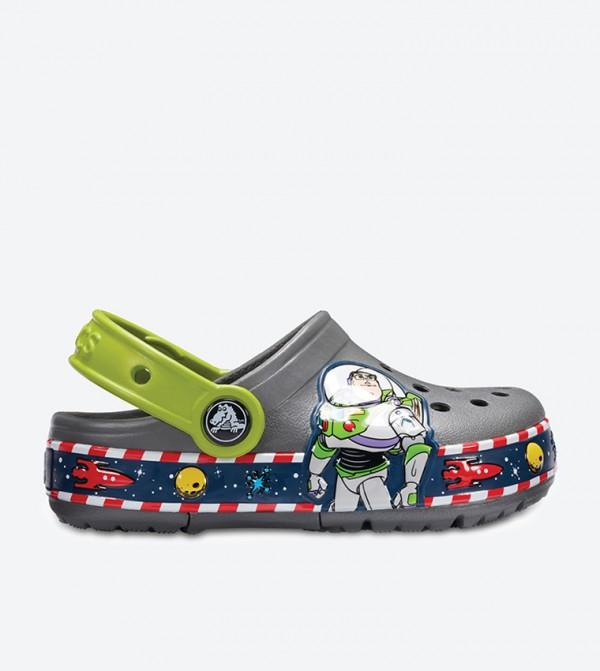 Crocband Buzz Lights Clogs - Grey