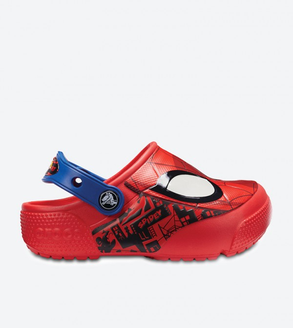 Spiderman Lights Clogs - Red
