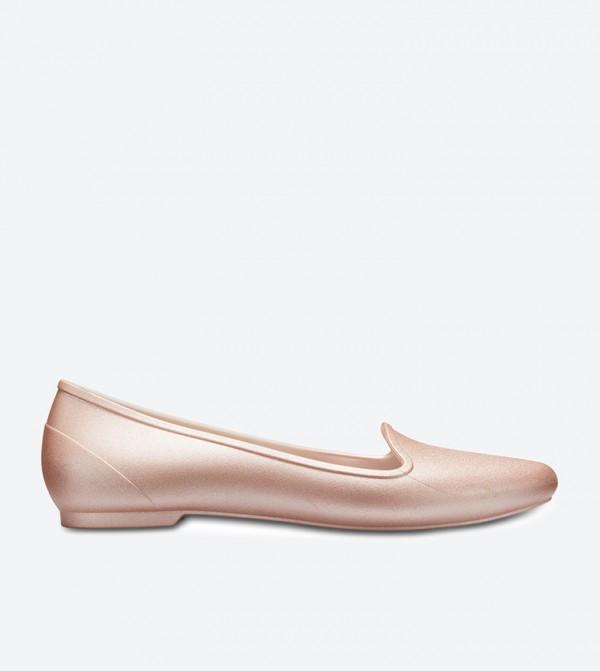 Eve Metallic Ballerinas - Rose Gold