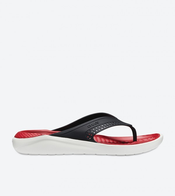 LiteRide Two Tone Flip Flops - Black