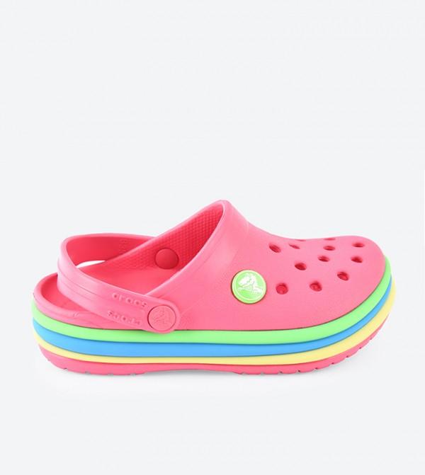Crocband Rainbow Band Clogs - Pink 205205-6NP