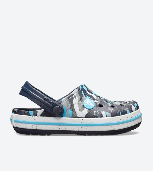 Crocband Camo Printed Clog - Blue 205301-498