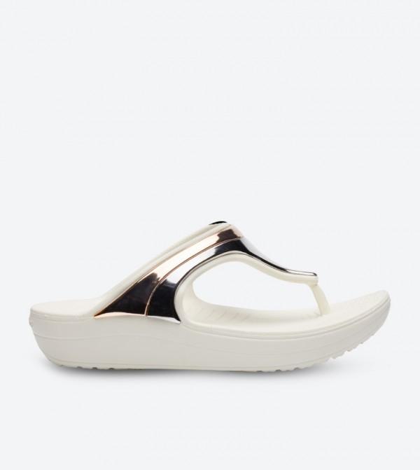 Sloane Metallic Strap Sandals - White 205357-6PG