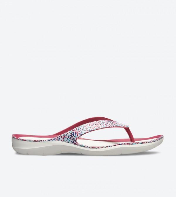 Swiftwater Graphic Flip Flops - White 205365-96R