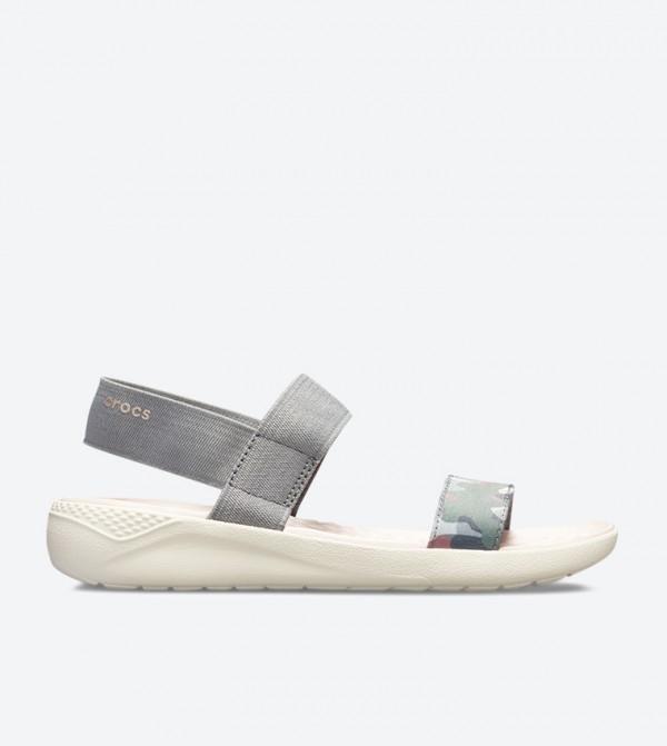 Literide Graphic Sandals - Grey 205375-0E9