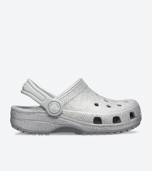 Classic Glitter Clog - Silver 205441-040