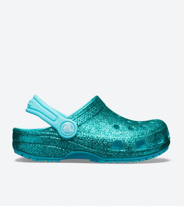 Classic Glitter Round Toe Clog - Blue 205441-40M