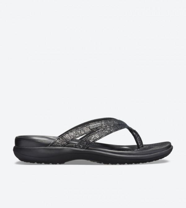 Capri Strappy Round Toe Flip Flops - Black 205478-060