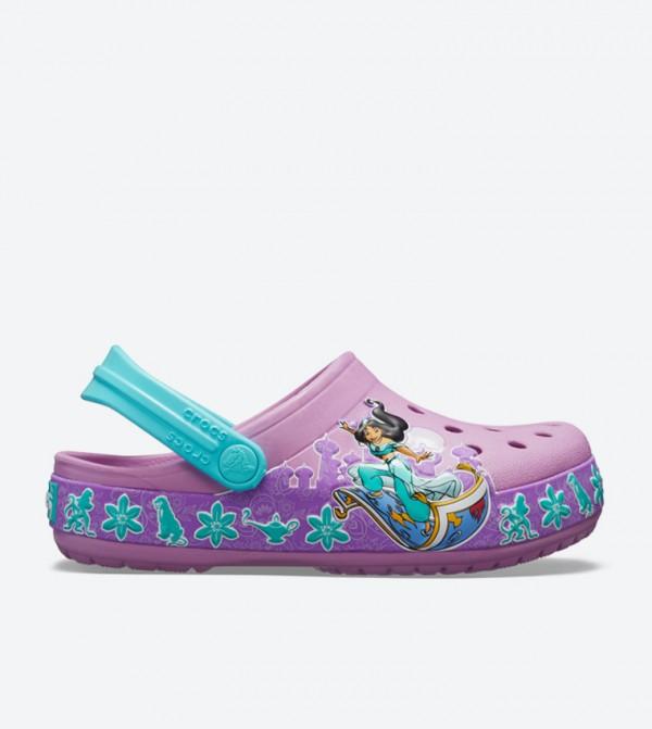 Fun Lab Graphic Jasmine Band Clogs - Purple 205491-508