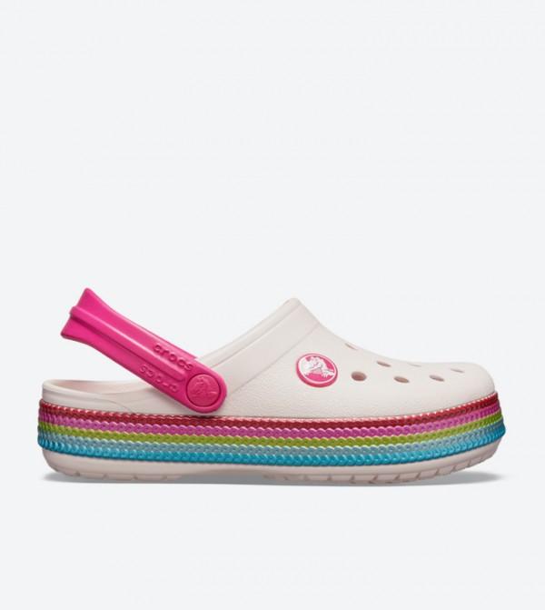 Crocband Sequin Band Clogs - Pink 205525-6PI