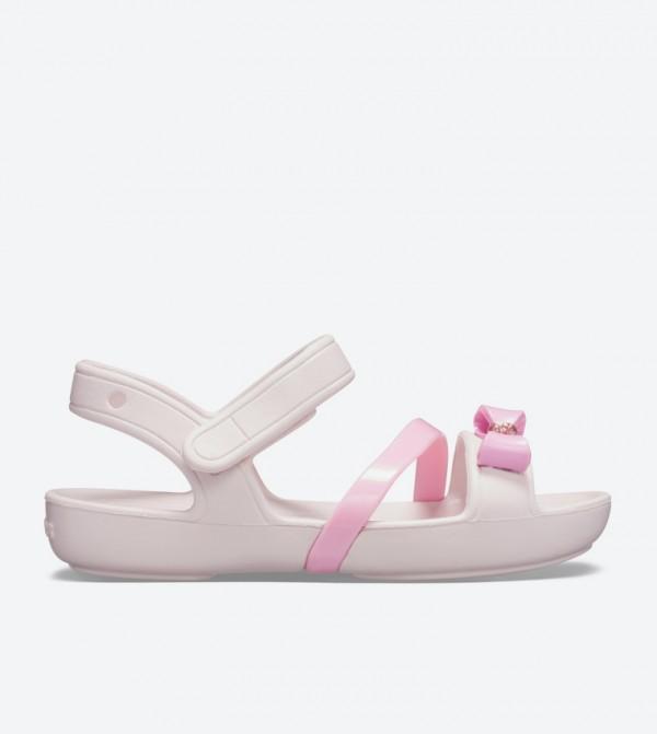 Lina Bow Charm Round Toe Sandals - Light Pink 205530-6PI