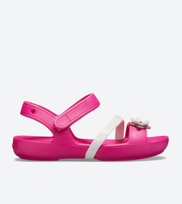 Lina Flower Charm Round Toe Sandals - Pink 205530-6X0