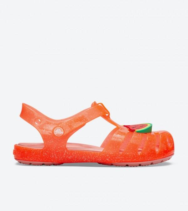 Isabella Charm Velcro Strap Closure Sandals - Orange 205535-6PJ