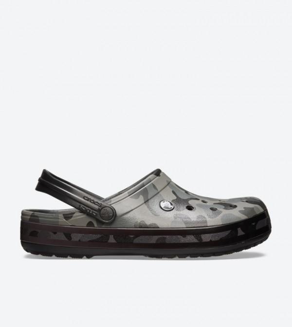 Crocband Seasonal Graphic Clogs - Grey 205579-0DY