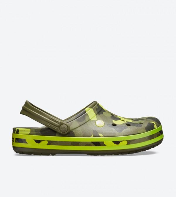 Crocband Seasonal Graphic Clogs - Light Green 205579-30L