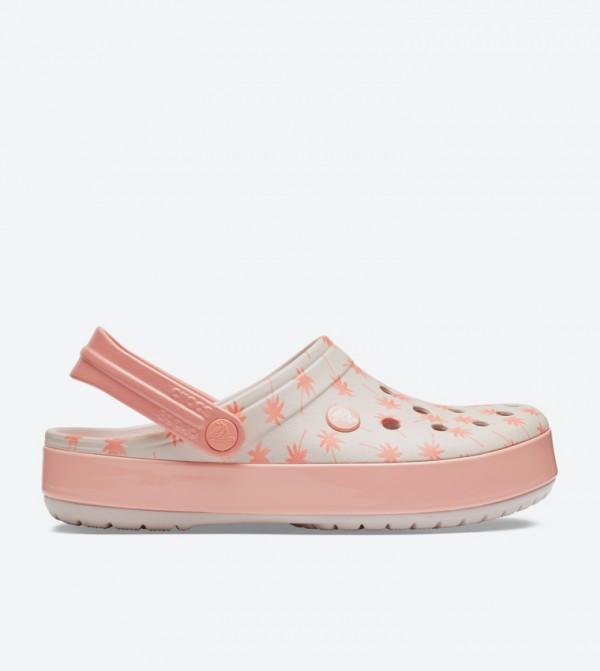 Crocband Seasonal Graphic Clogs - Light Pink 205579-6PR