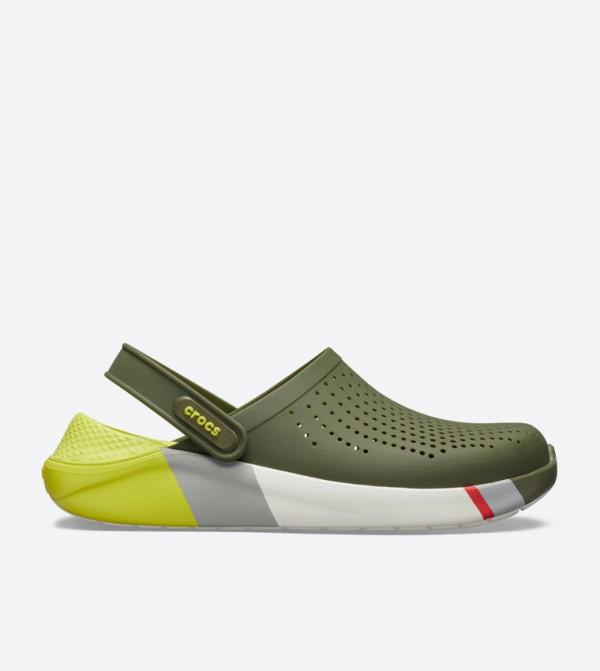 Literide Colorblock Round Toe Clogs - Green 205627-37P