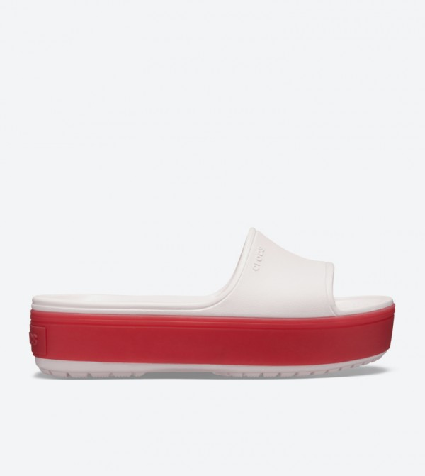 Crocband Round Toe Platform Slides - Light Pink 205631-6QB