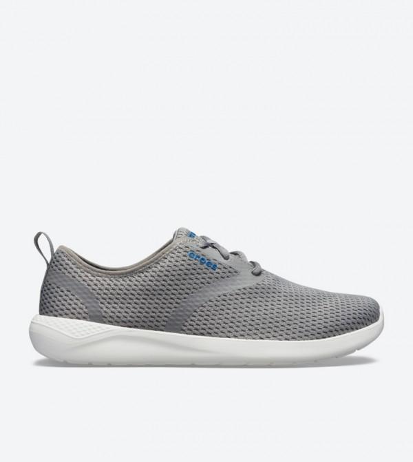 Literide Mesh Lace-Up Closure Sneakers - Grey 205678-06X