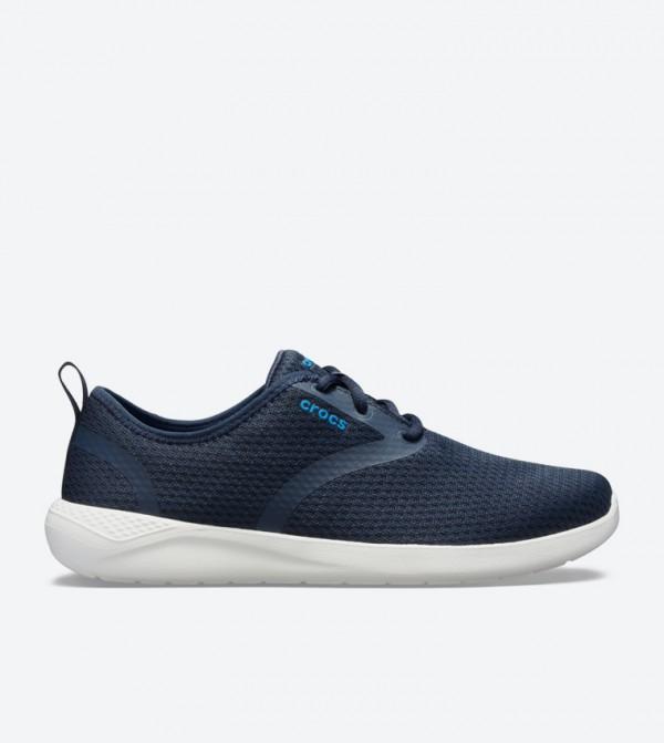 Literide Mesh Lace-Up Closure Sneakers - Navy 205678-462