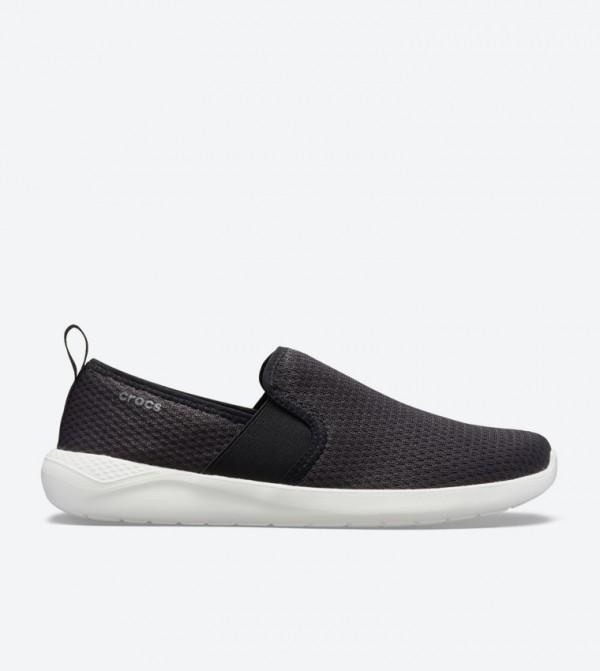 Literide Mesh Round Toe Slip-Ons - Black 205679-066
