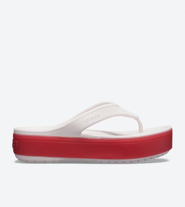 Crocband Platform Round Toe Flip Flops - Light Pink 205681-6QB