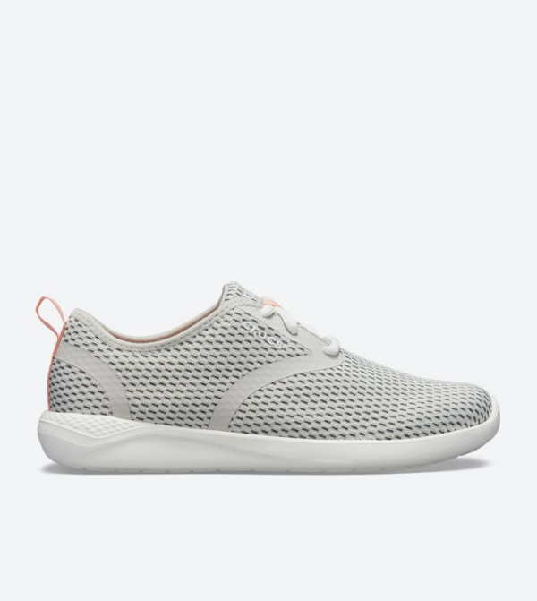 Literide Mesh Lace-Up Closure Sneakers - Grey 205726-115